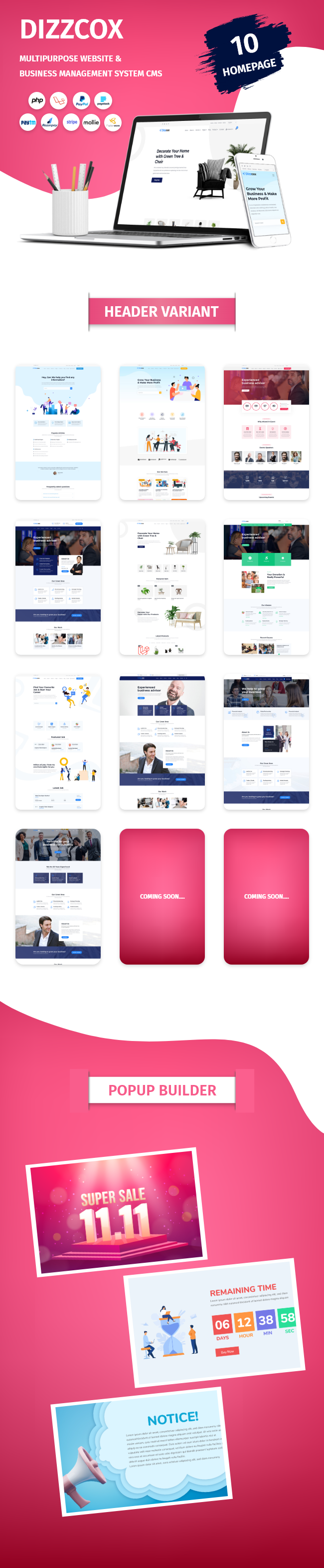 nexelit multipurpose website cms & business management system