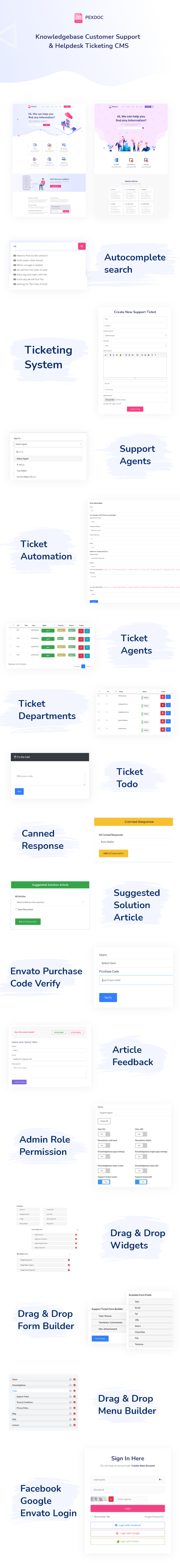 Pexdoc - Knowledgebase Customer Support & Helpdesk Ticketing CMS