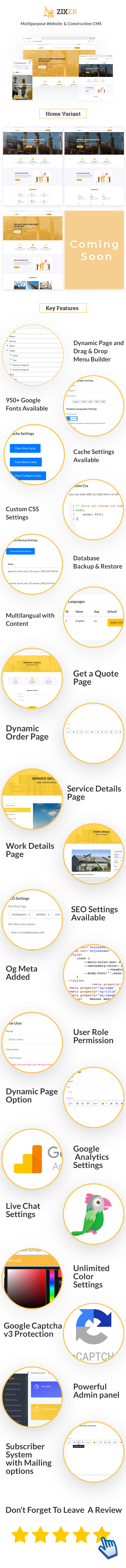 Zixer - Multipurpose Website & Construction Business Company CMS - 1